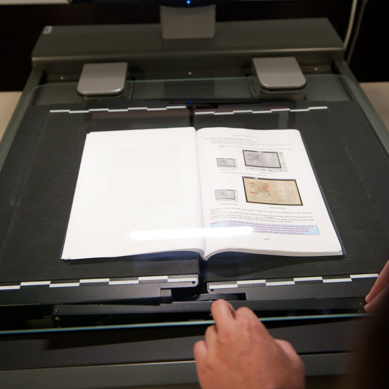 Scan your books for digital ease of use